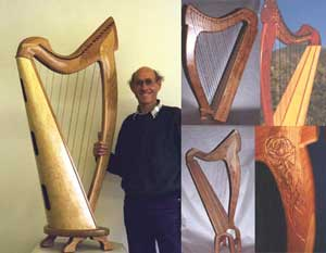 Raphael Weisman and round back harps